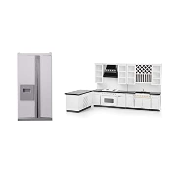 Amazon.es: P Prettyia Pack de Muebles de Cocina con Nevera Modelo ...