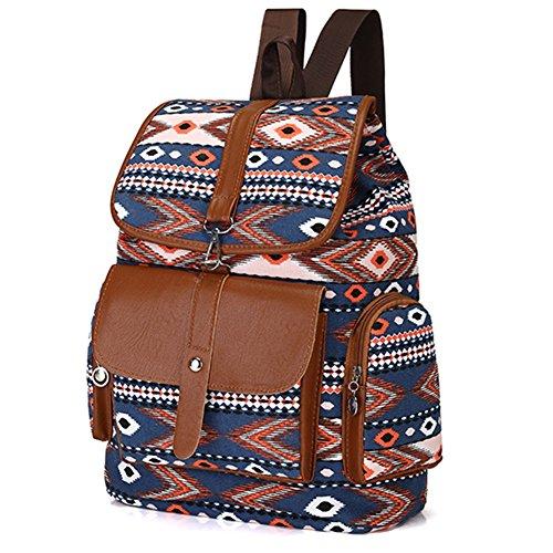 Demiawaking - Bolso mochila  para mujer 04 Azul