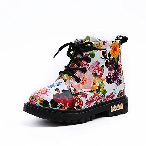 Lurryly Baby Kids Girls Martin Boots,Fashion Floral Shoes Children Boots 1-6 T by Lurryly