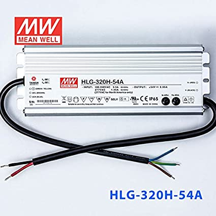 264WATTS MEAN WELL MeanWell HLG-320H-12 277VAC INPUT 12VDC OUTPUT