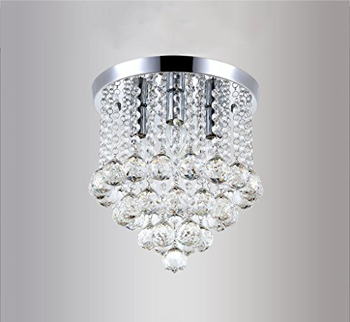 DIDIDD Ceiling Chandelier-Modern Annularity Transparent Jewel Crystal GlassCeiling Pendant Light Shade Fitting Modern Decoration,1-25Cme-14 3