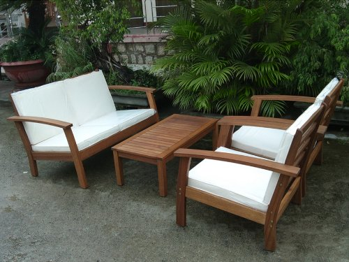 4pc Sopha Outdoor Patio Seating Sofa Set Furniture By Azzurro Living