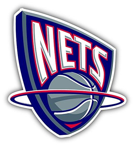5 New Jersey Nets - New Jersey Nets NBA Basketball Logo Art Decor Vinyl Sticker 4'' X 5''