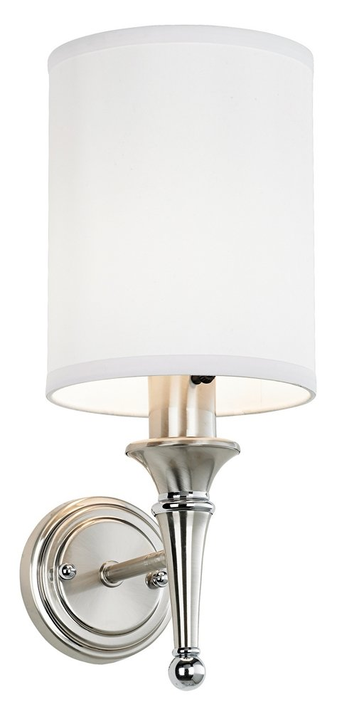 Braidy Contemporary Brushed Steel Plug-in Sconce