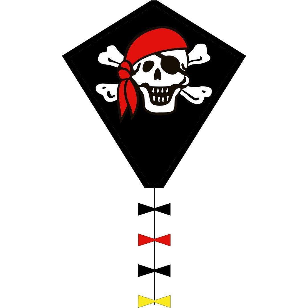 Aquilone Monofilo: Line Eddy Jolly Roger 50 Cm Hq-Invento. Dimensioni Cm 50 X 45 102105