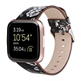 YJYdada Fashion Pattern Leather Strap Replacement Watch Band for Fitbit Versa (E)