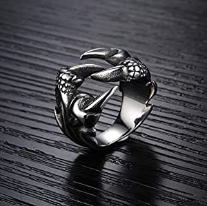 Titanium Steel Individual Dragon Clow Fashion Ring for Men US9 mr1-1