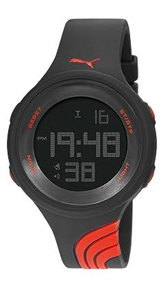 PUMA PU911091001 - Reloj (Reloj de pulsera, Masculino, Resina, Negro, Silicona