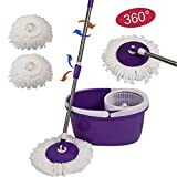 1pcs 360 Rotating Microfiber Mop Head Household Cleaning Replacable Magic Mop Easy Spinning