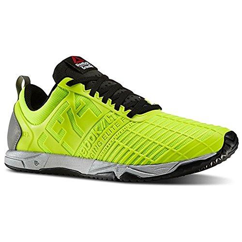 Reebok Mens Crossfit Sprint Tränare Neon Gul Svart 3m Reflekterande Storlek 12