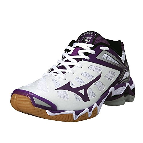 White Shoes Whtpurplepassionsilver Volleyball Lightning Wave Womens Mizuno W wZfqYp8