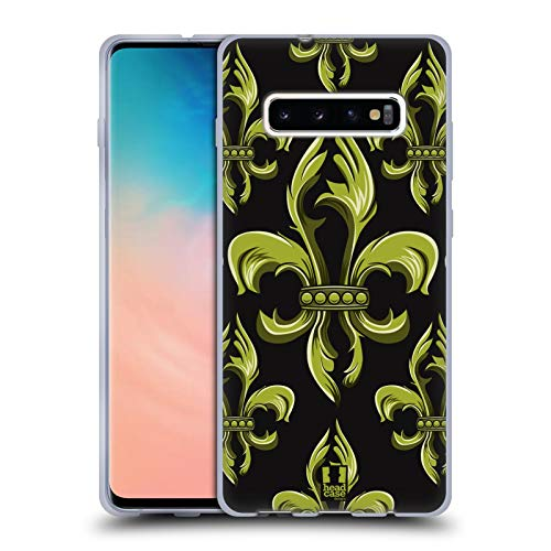 Fleur Collection - Head Case Designs Ornament Fleur de Lis Collection Soft Gel Case for Samsung Galaxy S10+ / S10 Plus