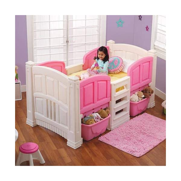 Step2 Girl's Loft and Storage Twin Bed 2