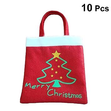 BESTOYARD Fieltro de Navidad árbol Bolsa de Tela con Mango ...