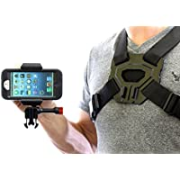 iPhone 4 & 5 Chest Mount for Otterbox® holder Case Samsung Galaxy 2, 3, 4, 5 Film POV action videos Rugged and Secure Harness GoPro® Compatible