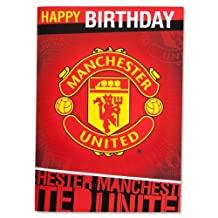 Manchester United Musical Birthday Card