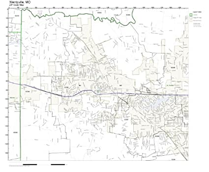 Amazon.com: ZIP Code Wall Map of Wentzville, MO ZIP Code Map Not