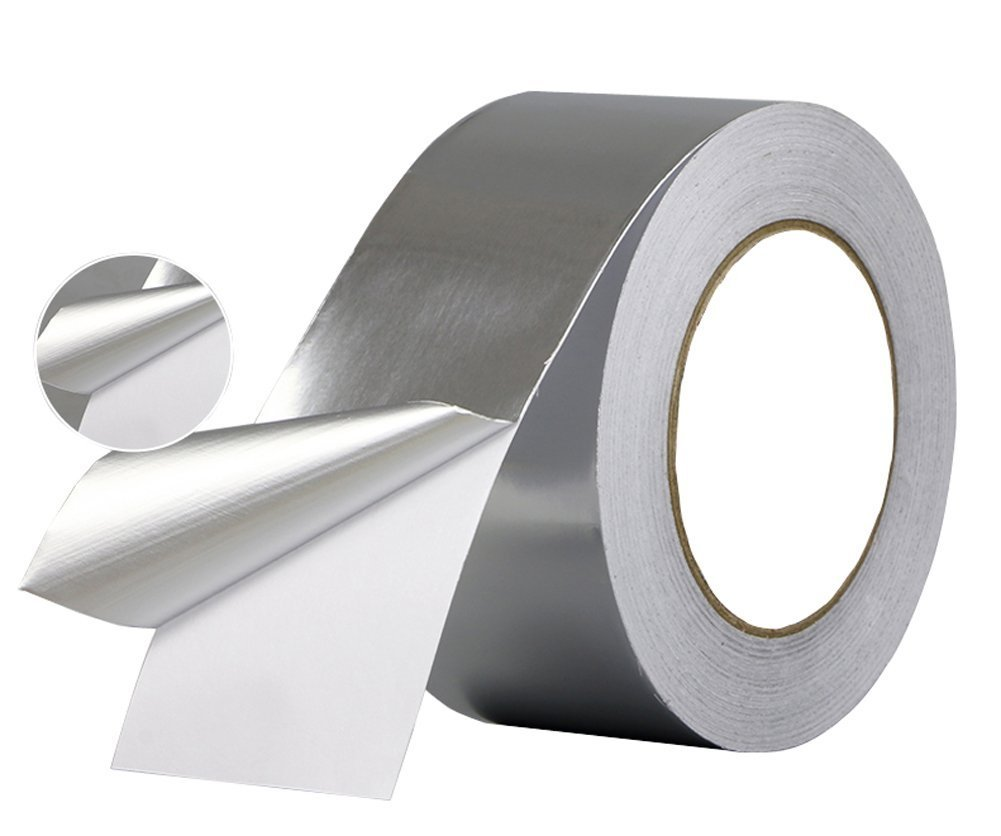 Aluminum Foil Tape- best for HVAC, Ducts, Insulation and Heavy Duty Aluminum Foil Tape Thickness 2.4mil and 6 mil, Kaifa (3.15 inch wide x 30 yards long(Thick 0.08 mil)) by Kaifa