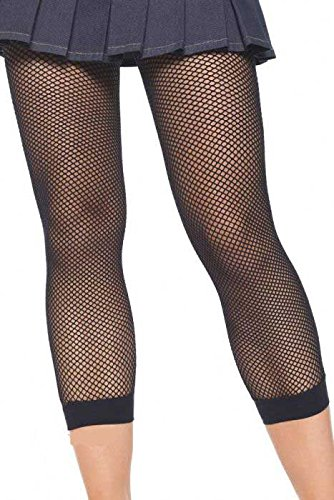 Leg Avenue Lycra Fishnet Footless Tights, One Size, Black