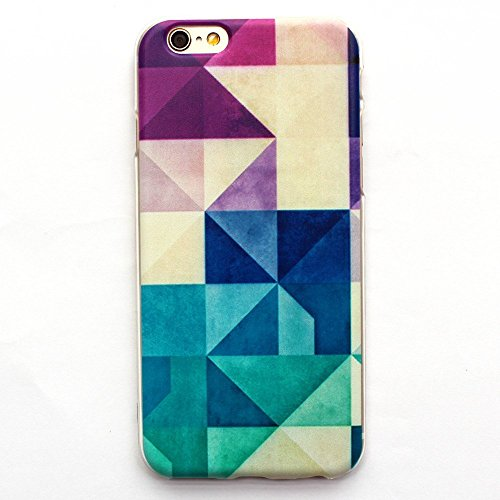 iPhone 6 Case, iPhone 6 (4.7 Inch) Case - LUOLNH Fashion Style Colorful Painted Multicolor plaid TPU Case Back Cover Protector Skin For iPhone 6 (4.7 Inch)