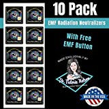 Cell Phone EMF Protection Radiation Neutralizers + Free EMF Neutralizer Button - Slim Design - Developed by Doctor -...