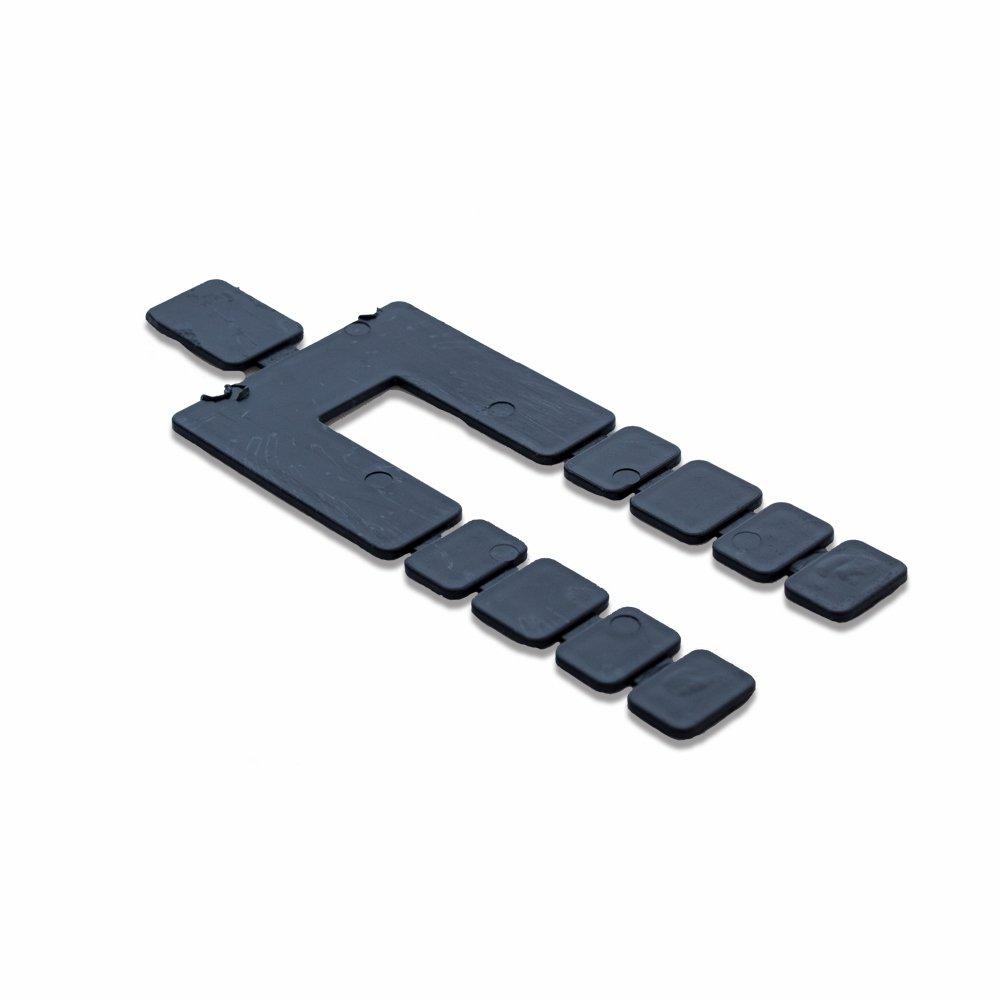 Black Stack Plastic Shim, Size: 4-1/16