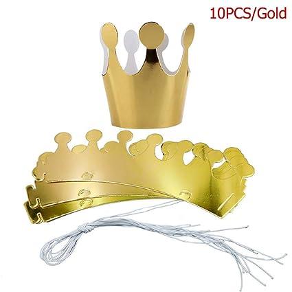 EBILUN Sombreros de Corona de Papel, Fiesta de cumpleaños ...