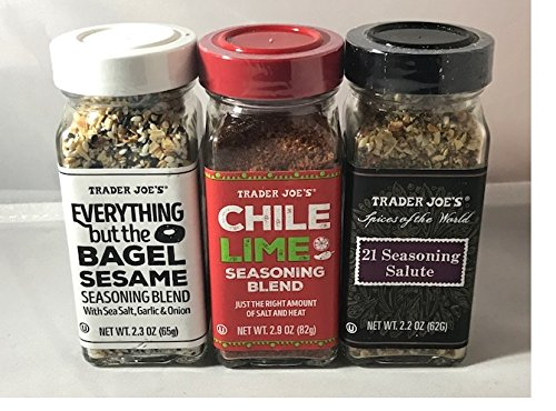 Trader Joe's Seasoning - 21 Salute Seasoing, Chile Lime and Everything but the bagel Seasoning
