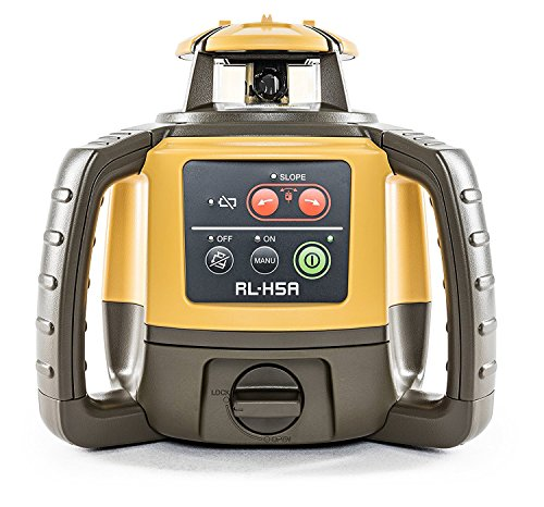 (Topcon RL-H5A Self Leveling Horizontal Rotary Laser with Bonus EDEN Field Book| IP66 Rating Drop, Dust, Water Resistant| 800m Construction Laser| Includes LS-80L Receiver, Detector Holder, Hard Case)