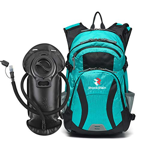ROCKRAIN WindSeeker Insulation Hydration Cycling Backpack Pack with 2.5L BPA Free Leak Proof Water Bladder, Sufficient Storage Space for Outdoor Gear- Perfect for Cycling (Blue)