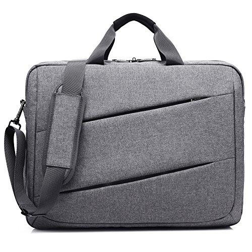 CoolBELL 17.3 Inch Laptop Messenger Bag Case Multi-Functional Briefcase Multi-Compartment Handbag Shoulder Bag for Laptop/Ultra-Book/Tablet Grey