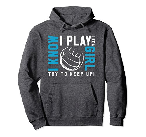 Unisex Volleyball Hoodies For Girls - Kid's Youth Teen Hoodie Medium Dark Heather