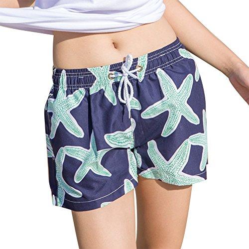Uskincare Mujers Pantalones Cortos Boardshorts Casa Pantalones Deportivo Secado Rápido 6-Estrellas de Mar