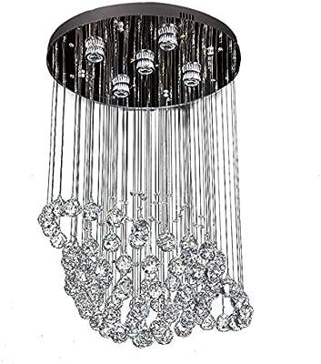 MAOMAO Lámpara cristalina Moderna, luz de Techo Espectacular ...
