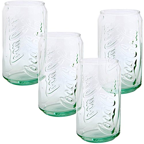 Green Coca cola Can shaped Beverage Glasses