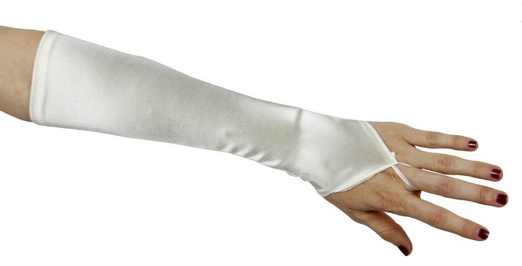Cinderella Satin Fingerless Elbow Length Gloves Greatlookz Colors: Ivory