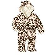 Healthtex Baby Girl Pram Snowsuit Faux Fur Fleece Footed Suit Choose Your Style Sizes Newborn, 0-3,3-6, 6-9 Months (0-3 Month, Pink Brown Leopard)