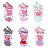 #10: Peppa Pig Girls 6 pack Socks (Toddler/Little Kid/Big Kid)
