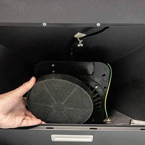 SIA CHL90BL - Campana extractora de cocina y filtro de carbón (90 cm), color negro: Amazon.es: Grandes electrodomésticos