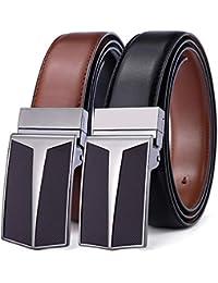 Reversible Belt, Bulliant Leather Belt for Men Size Adjustable,One Belt Reverse for 2 Colors
