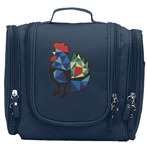 Travel Toiletry Bags Polish Folk Chicken Rooster Washable Bathroom Storage Hanging Cosmetic Grooming Bag For Household Business Vacation  Multi Compartments  Waterproof Lining
