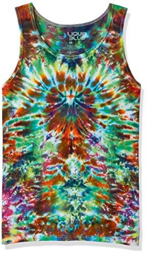 Hippy Tye Dye - Liquid Blue Unisex-Adults Crazy Krinkle Tie Dye Tank Top, Multi Colored Tie Dye, XX-Large