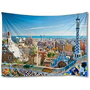 FHYGJD Barcelona Spain Art Print Tapestries,Home Wall Decor Tapestry(30x45 inch)