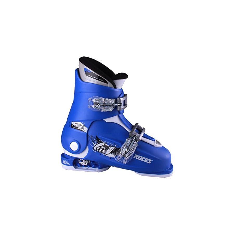 Roces 2018 Idea Adjustable Blue/White Kids Ski Boots 19.0 22.0