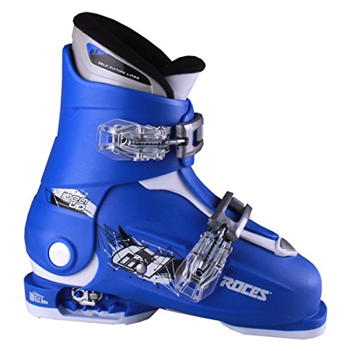 Roces 2018 Idea Adjustable Blue/White Kids Ski Boots 19.0-22.0 by Roces