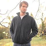 Product review for Carraig Donn Pure Wool Irish Shetland Lined Men's Aran Cardigan Large