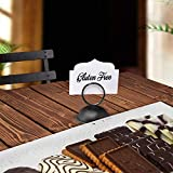 Gray Bunny Place Card Holder, 12 Pack, Black