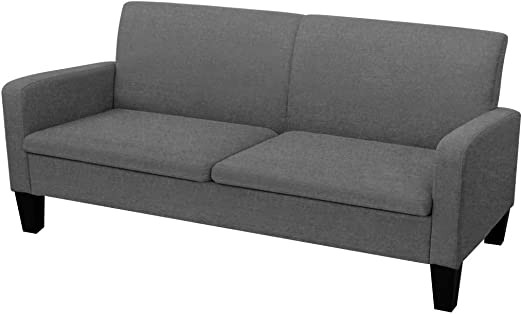 XINGLIEU Sofá Cama Gris Oscuro,Sofa de Jardin Exterior,Sofa Reclinable,Tela + Espuma + Madera de Pino 180 x 65 x 76 cm: Amazon.es: Hogar