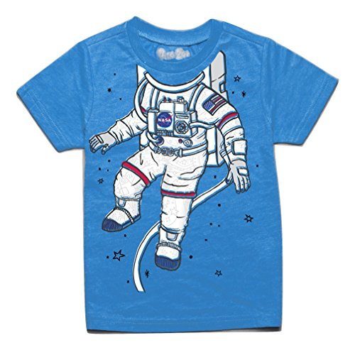 Peek-A-Zoo Toddler Become an Animal Short Sleeve T Shirt - Astronaut Turquoise - 3T