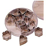 LittleTiger Mini Set of 12pcs Stainless Steel Flower Shape Cake Vegetable Fruit Cutter Mold Tool , Cookie Cutter Set